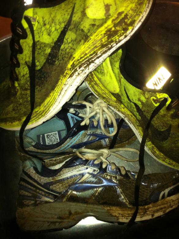 Muddy trainers Nike Lunarglide