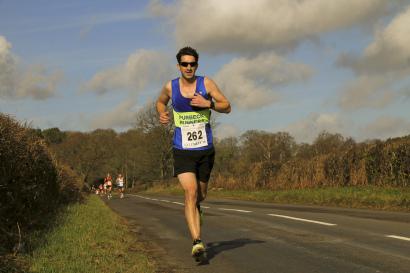 Me running in the recent Lytchett 10