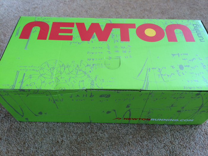 Newton MV3 shoes in the box