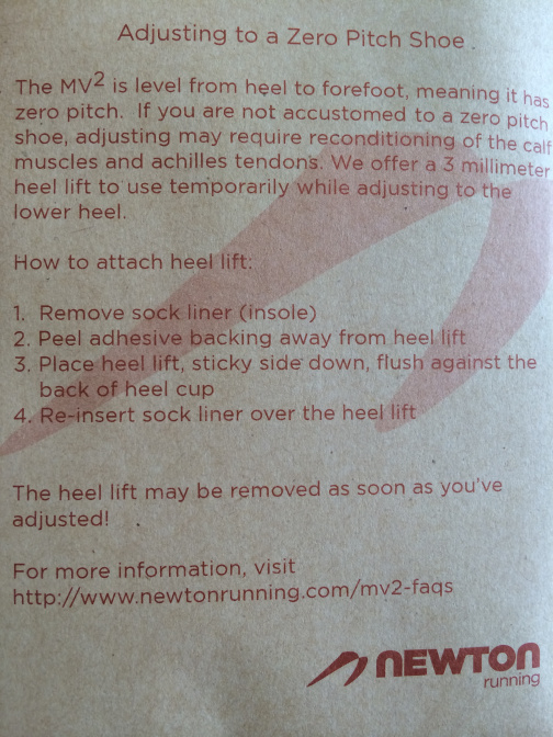 Newton MV3 heel insert guide