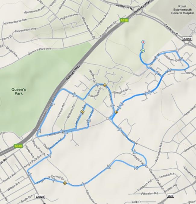 Littledown 5 route