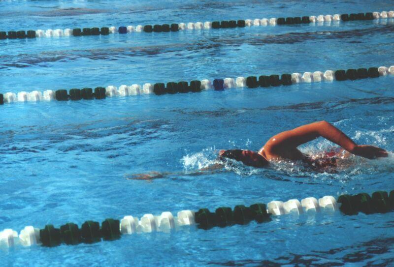 Runners cross training - swimming