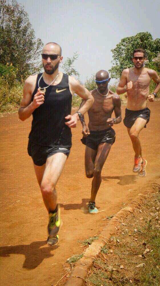 Mo Farah training